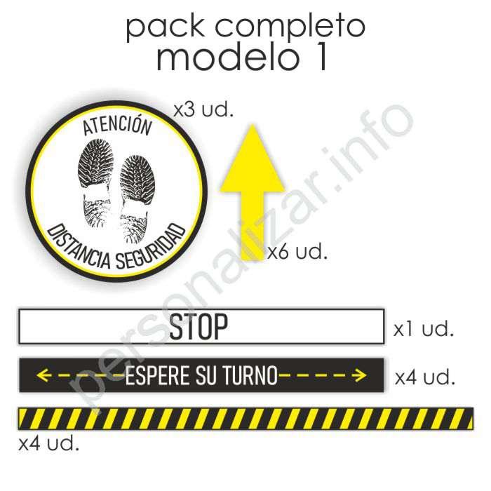 Pack adhesivos suelo flujo de clientes Modelo 1