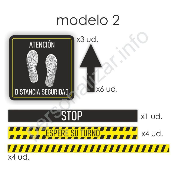 Pack adhesivos suelo flujo de clientes Modelo 2