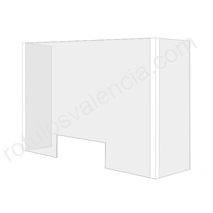 Mampara mostrador protección cerrada Covid 19