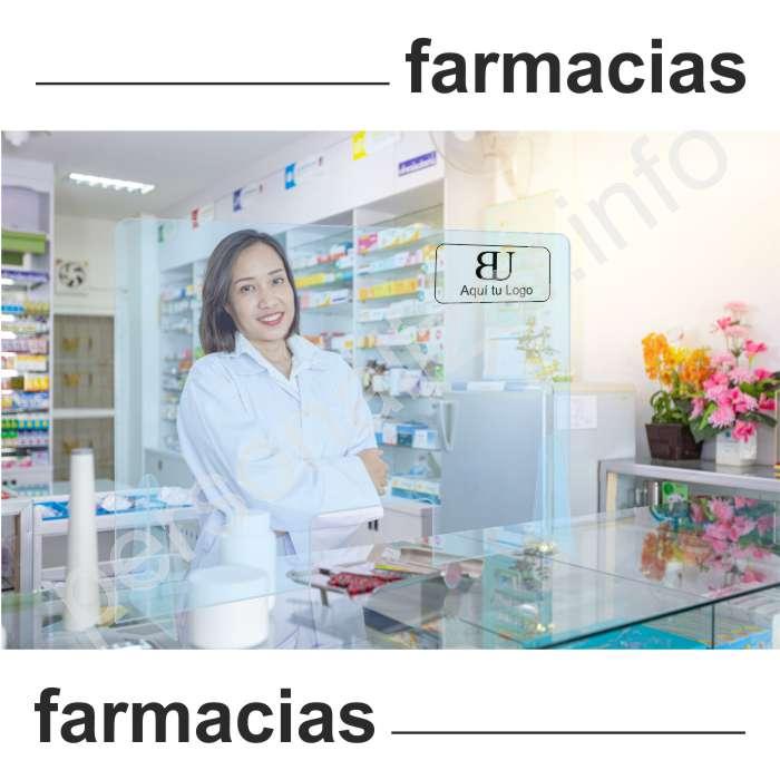 Mampara protectora mostrador Coronavirus Farmacias