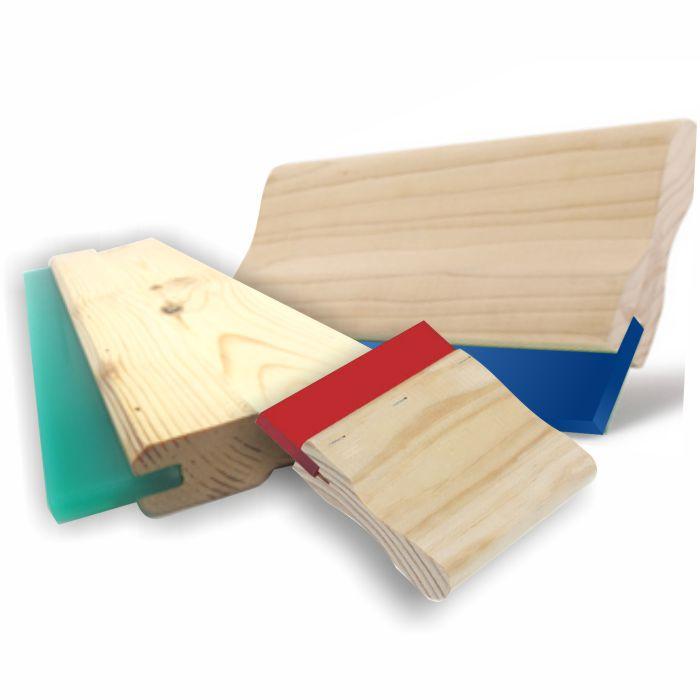 Porta regleta madera con goma
